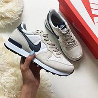 Кроссовки женские Nike Internationalist Beige D1987 бежевые