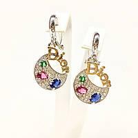 Серьги Dior с разноцветными камнями