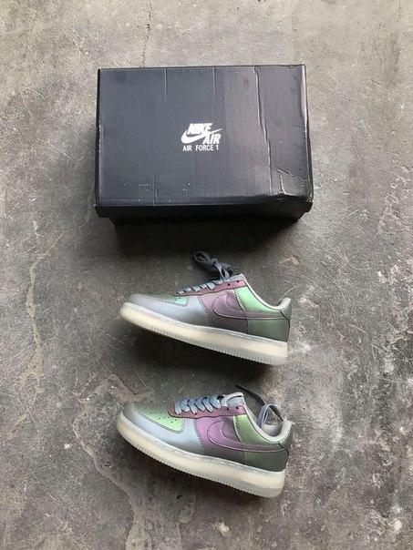 Кроссовки женские Nike Air Force Anthracite Stealth 15312 разноцветные - Брендовая одежда от интернет-магазина «Trendy Shop» в Харькове