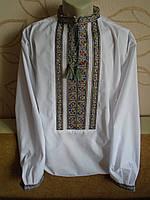 Чоловіча сорочка-вишиванка,  на білому попліні розмір 54
