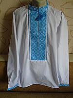 Сорочка-вишиванка на білому попліні, 54-56 розміру.