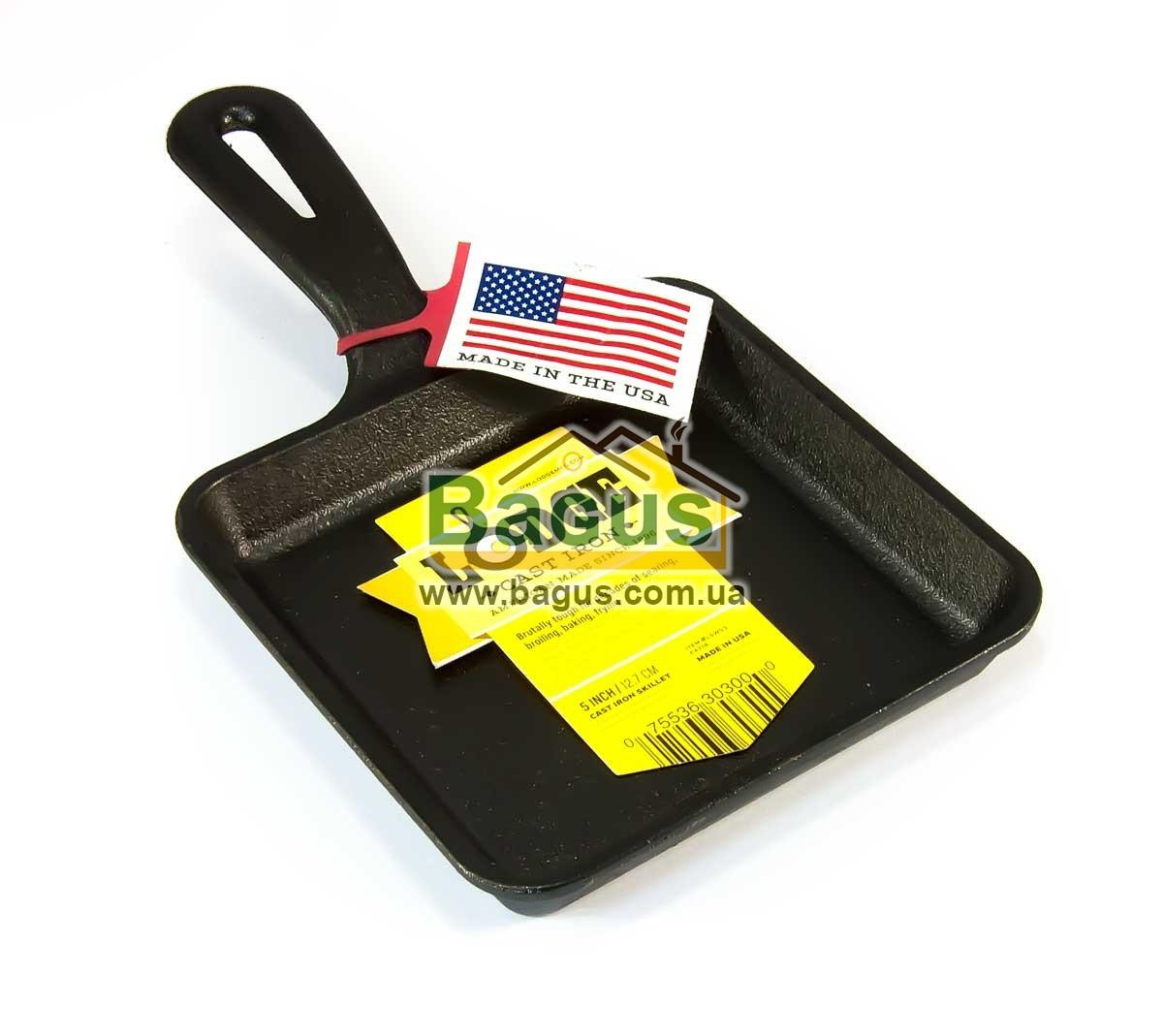 Сковорода чавунна порційна (13х13см, h-2,2 см) з чавунною ручкою Lodge (США) L5WS3