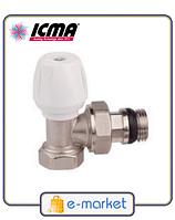 Кран радиаторный нижний угловой 1/2 ICMA. Арт. 805+940