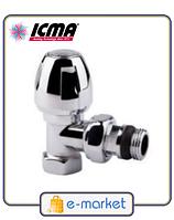 Кран хромированный радиаторный вехний угловой 1/2 ICMA. Арт. 1116