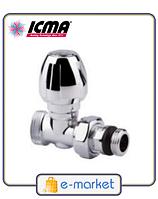 Кран хромированный радиаторный прямой угловой 1/2 ICMA. Арт. 1117