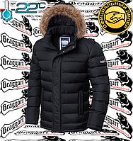 Куртка зимняя с опушкой Braggart - 3612#3613 черный