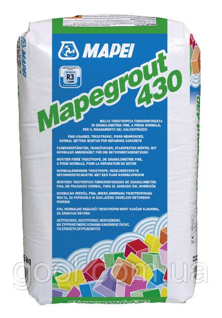 Ремонтный состав Мапеграут 430 Мапей для бетона и стяжки мешок 25 кг