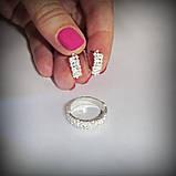1055 Срібне колечко Діана 925 проби з камінням, фото 10