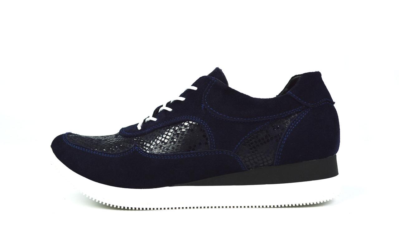 Синие женские замшевые кроссовки Luci Di Luna