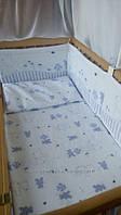 Детское постельное белье из 6 ед.(без балдахина и кармана)- Зайка, серия Organic Cotton