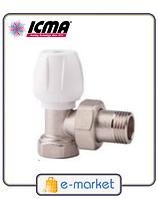 ICMA Кран радиаторный верхний угловой 1/2. Арт. 803