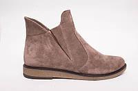 Ботинки  №430-4 песочная замша, фото 1