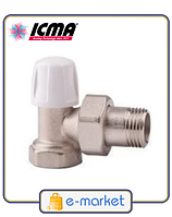 ICMA Кран радиаторный нижний угловой 1/2. Арт. 805