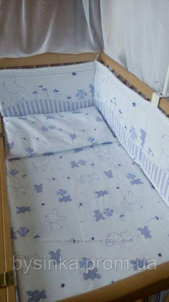 Комплект в детскую кроватку Зайка, серия Organic Cotton