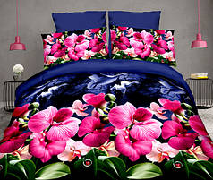 Двуспальный набор постельного белья 180*220 из Полиэстера №144 Черешенка™
