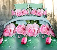 Двуспальный набор постельного белья 180*220 из Полиэстера №145 Черешенка™