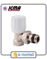 Кран радиаторный верхний угловой 3/4 ICMA. Арт. 951