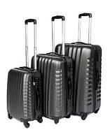 Дорожный чемодан Gravitt 888 набор 3 штуки темно-серый
