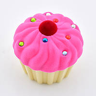 Футляр 54691 для кольца-серег, розовый цвет, размер 6*6 см