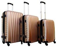 Дорожный чемодан Gravitt 888 набор 3 штуки золотистый