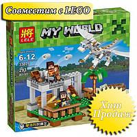 """Конструктор лего майнкрафт Lele Minecraft 33025 """"Белый Дракон"""", 293 дет"""