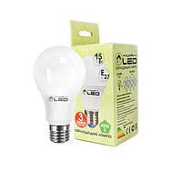 Светодиодная лампа Е27, 15W (груша), 4000К