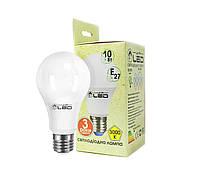 Светодиодная лампа Е27, 10W (груша), 3000К