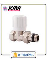 Кран радиаторный верхний прямой 1/2 ICMA. Арт. 954