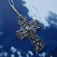 Серебряный крестик с распятием, 2,1 грамма