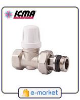 Кран радиаторный нижний прямой1/2 ICMA. Арт. 955