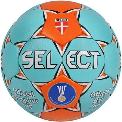 Мяч гандбольный Select Ultimate IHF (бирюз/оранж) размер 2, фото 2