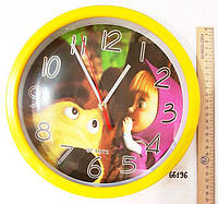Детские настенные часы Маша и Медведь Quartz 68196, фото 1