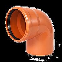 Колено 110х90 для наружной канализации