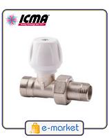 Кран радиаторный верхний прямой 1/2 - 24х1,5 ICMA. Арт. 814 (828)