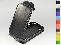 Откидной чехол из натуральной кожи для BlackBerry Q10