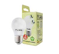 Светодиодная лампа Е27, 3W (Шарик), 4000К