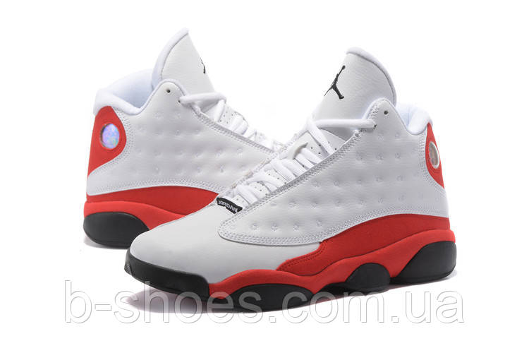 Мужские кроссовки Air Jordan Retro 13 (White/Black-True Red-Pearl Grey)