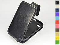 Откидной чехол из натуральной кожи для BlackBerry Q5