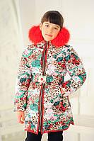 """Зимняя куртка для девочки """"Маша-Вишенька"""""""