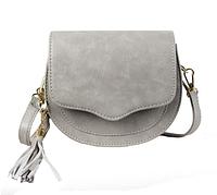 Стильная сумочка серая