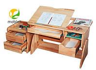 Дитячий письмовий стіл Mobler lux 90 см з тумбою