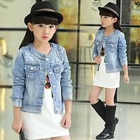 Стильна джинсова курточка для дівчаток