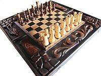 Шахматы-нарды деревянные ручной работы, фото 1