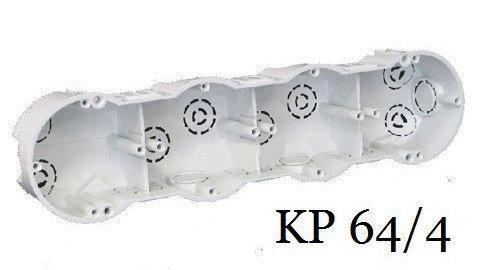 Коробка KP 64/4 установочная четвертная, под бетон, Копос