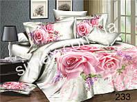 Постельная ткань,Постельная ткань Сатин-пано 3D Розы
