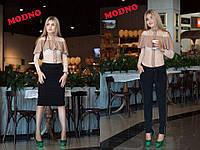 Костюм Zara тройка женский стильный - блуза, юбка и брюки разные цвета Km547