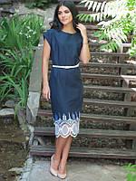 Изысканное темно-синее платье для праздника размер: 48,50,52,54