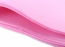 Фоамиран листової 50 х 50 см, рожевий
