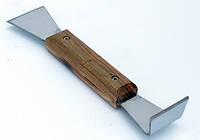 Стамеска пасечная с деревянной ручкой (200 мм, нержавеющая)
