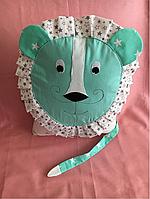 Лев подушка бортик в детскую кроватку